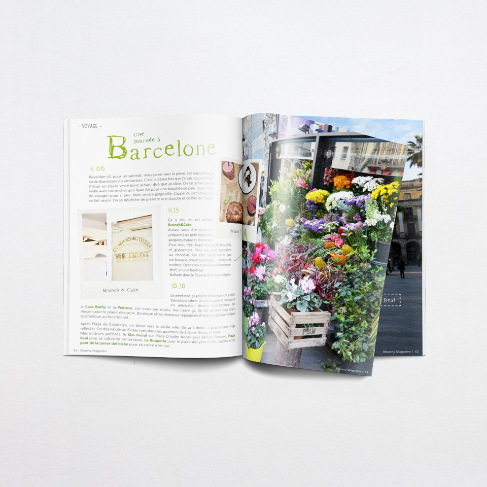 Graphisme - edition - Bloomy magazine - Charlène Roudier - création - maquette