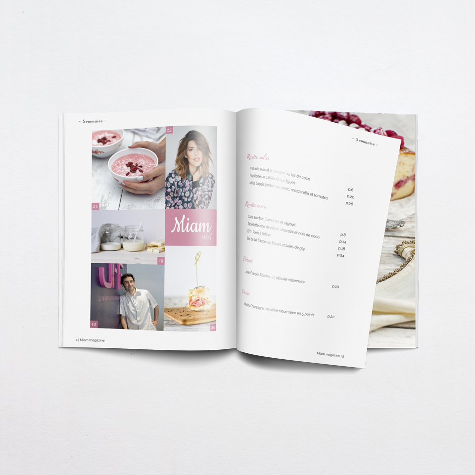Graphisme - edition - Miam mag' - Charlène Roudie - créationr